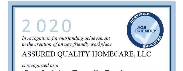 Age Friendly Employer Certificate